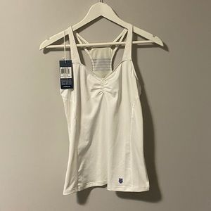 NWT K-Swiss white athletic speed tank top - small